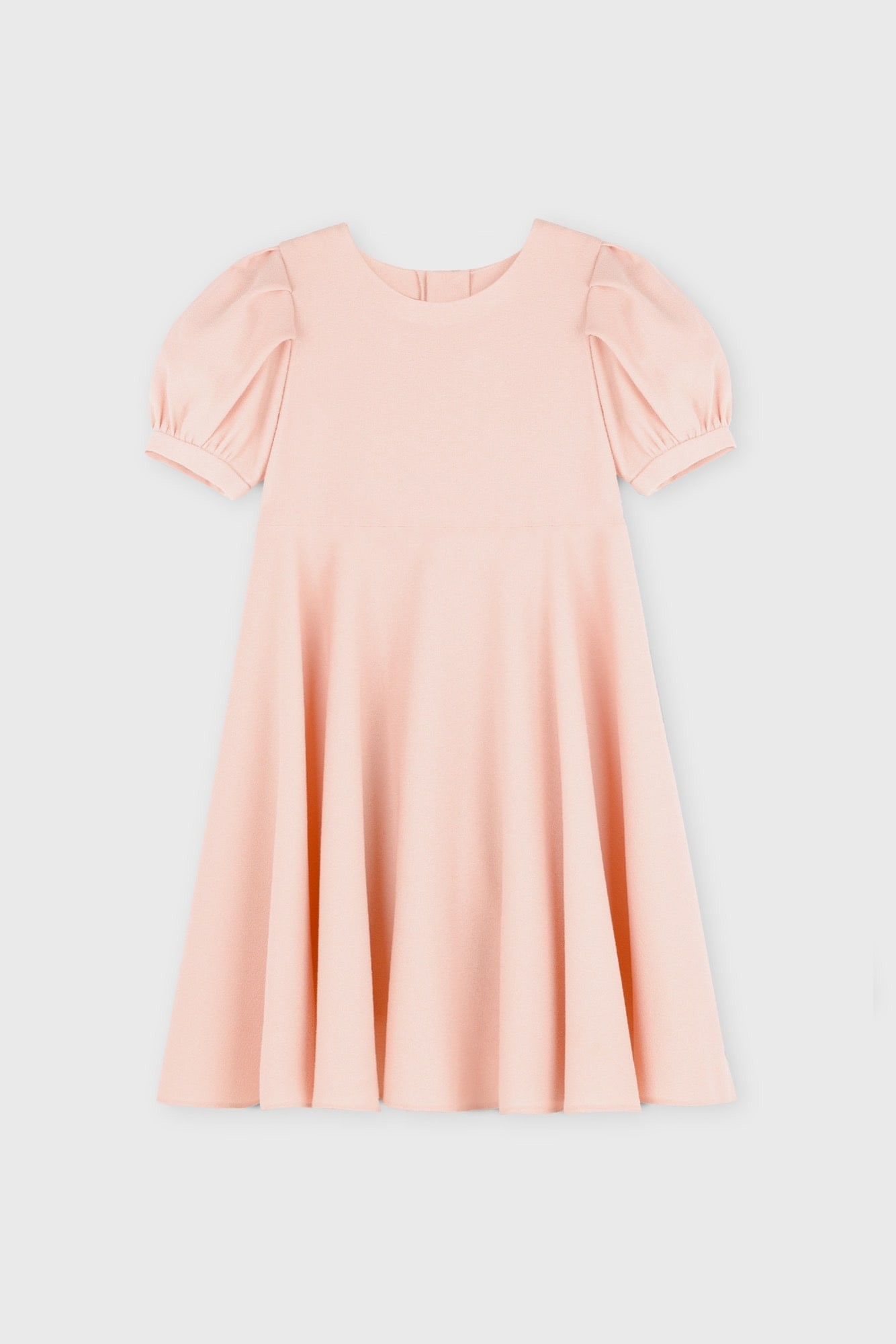 LANTERN SLEEVES CREPE DRESS