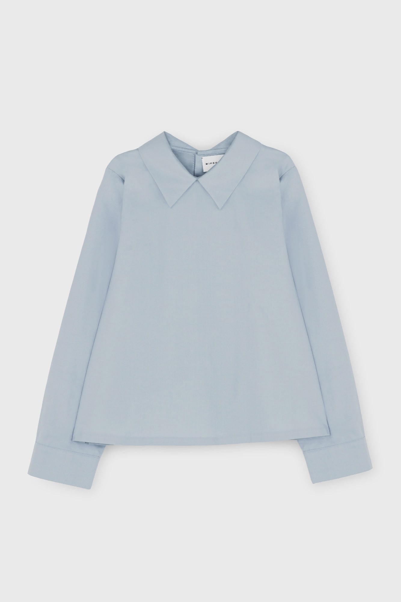 POPLIN SHIRT WITH BACK BUTTONS