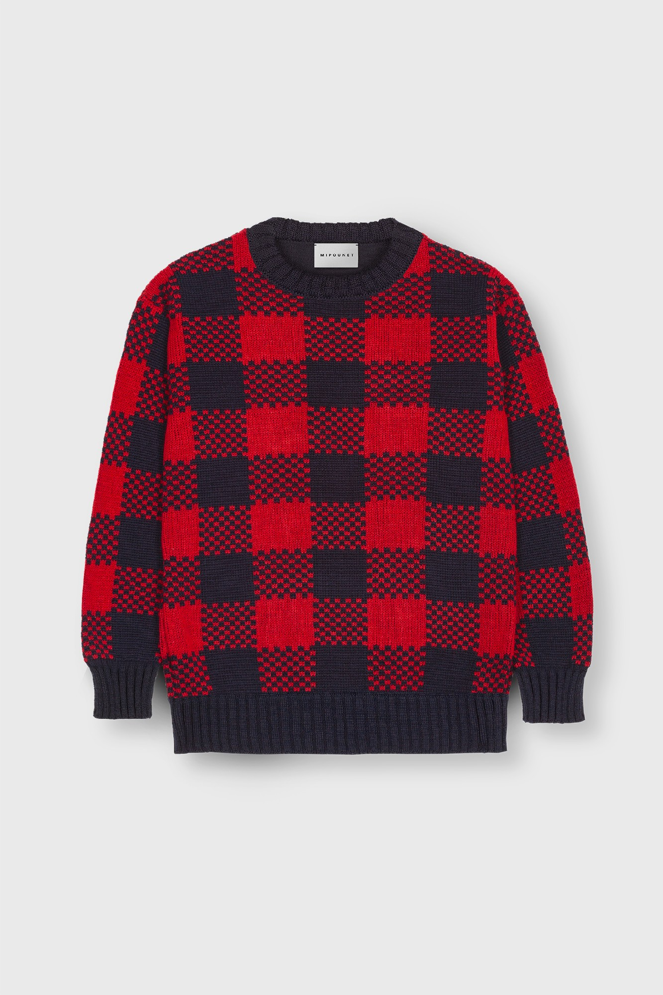 JACQUARD CHECKED SWEATER