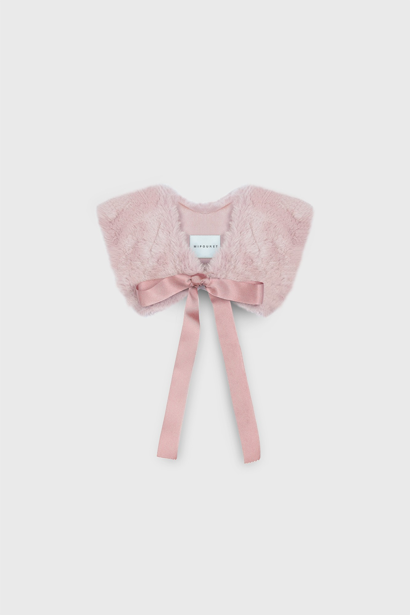 FAUX FUR BOW COLLAR