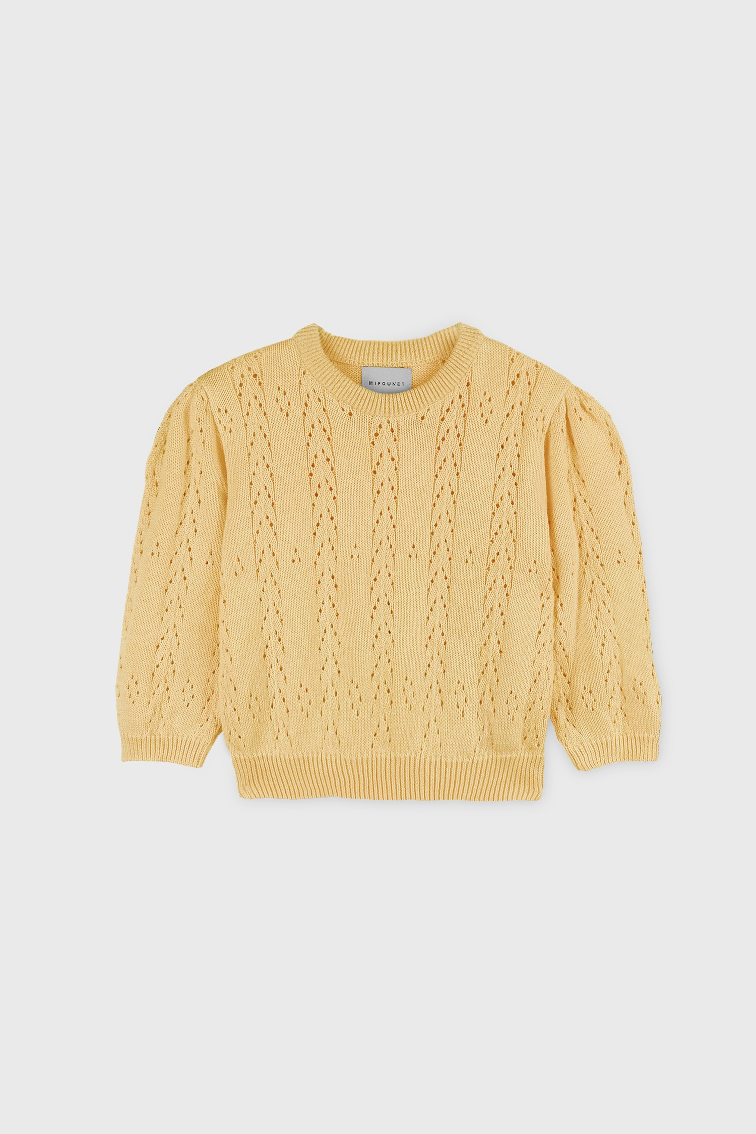 COTTON OPENWORK SWEATER