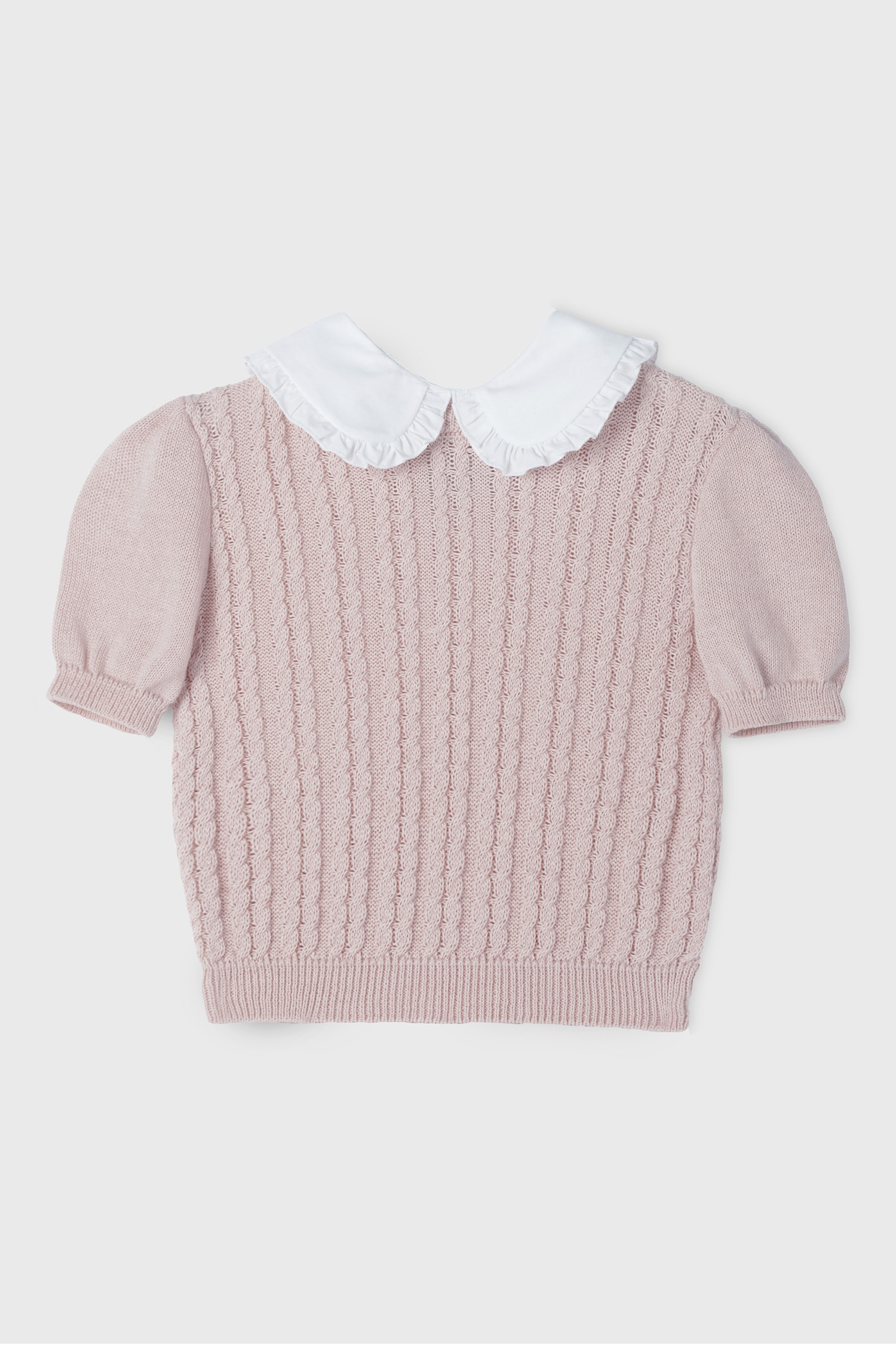 GIRL PINK COLLARED SWEATER