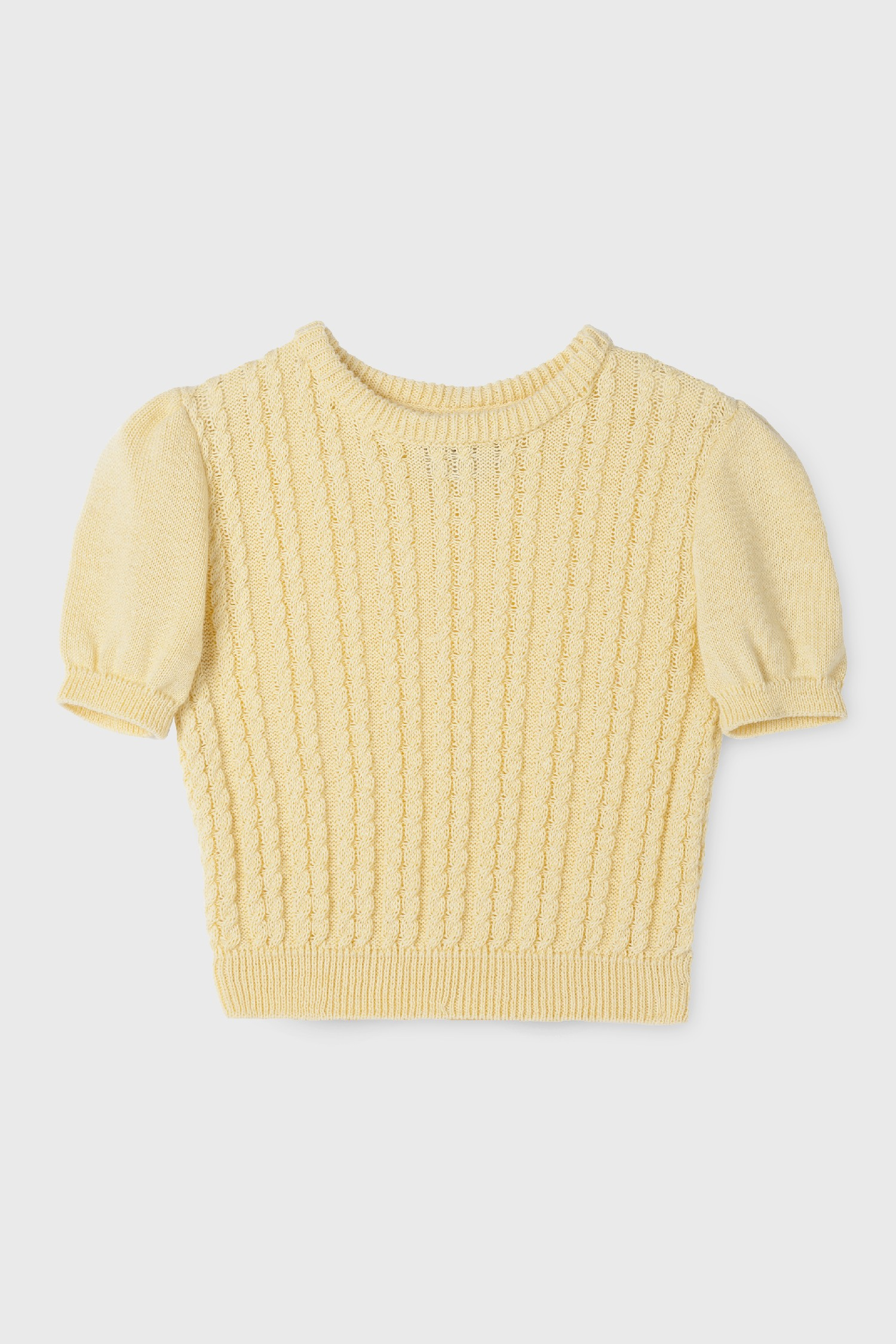 YELLOW COLLARED SWEATER