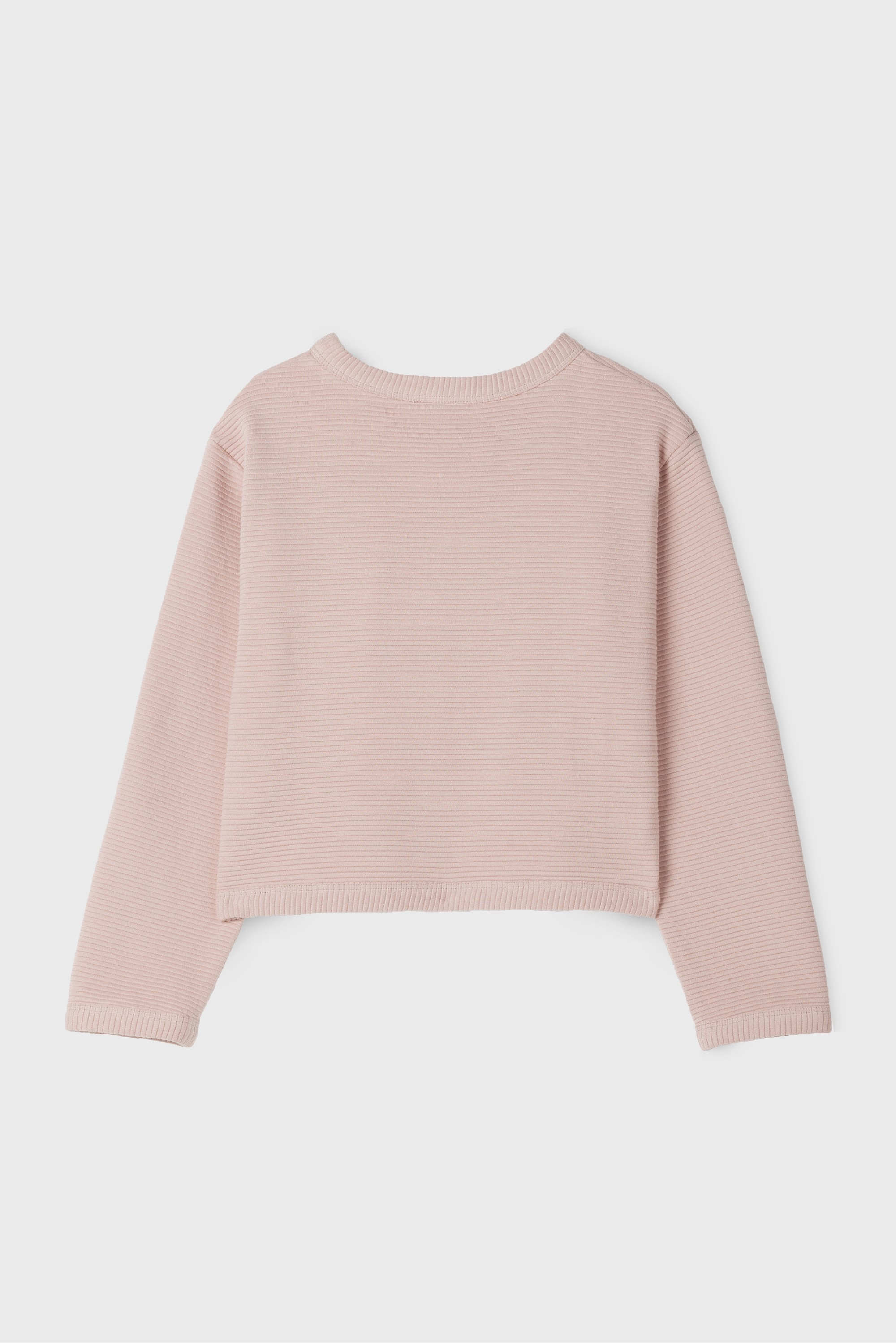 KID PINK SHIRRED SWEATSHIRT