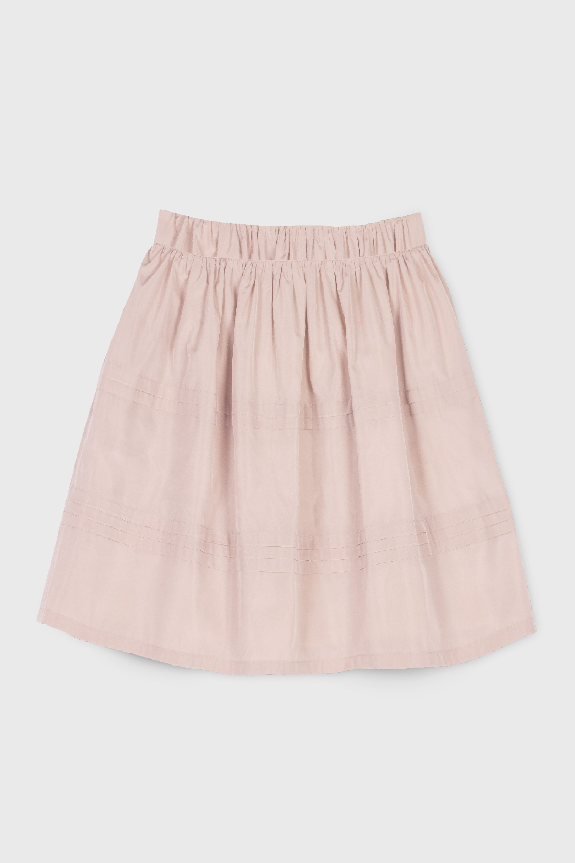 PINK TAFFETA PLEATED SKIRT