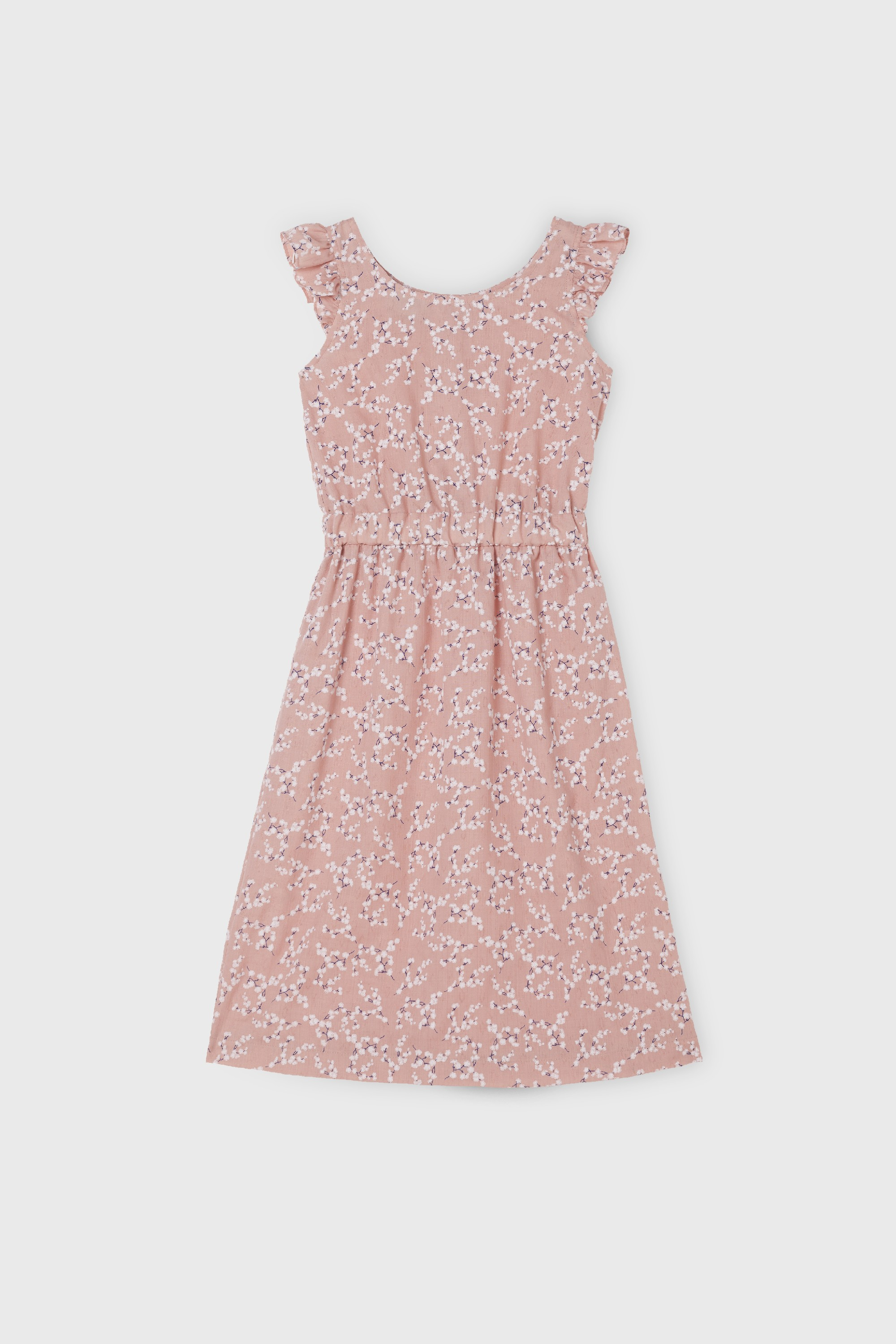 PINK GASA RUFFLE DRESS