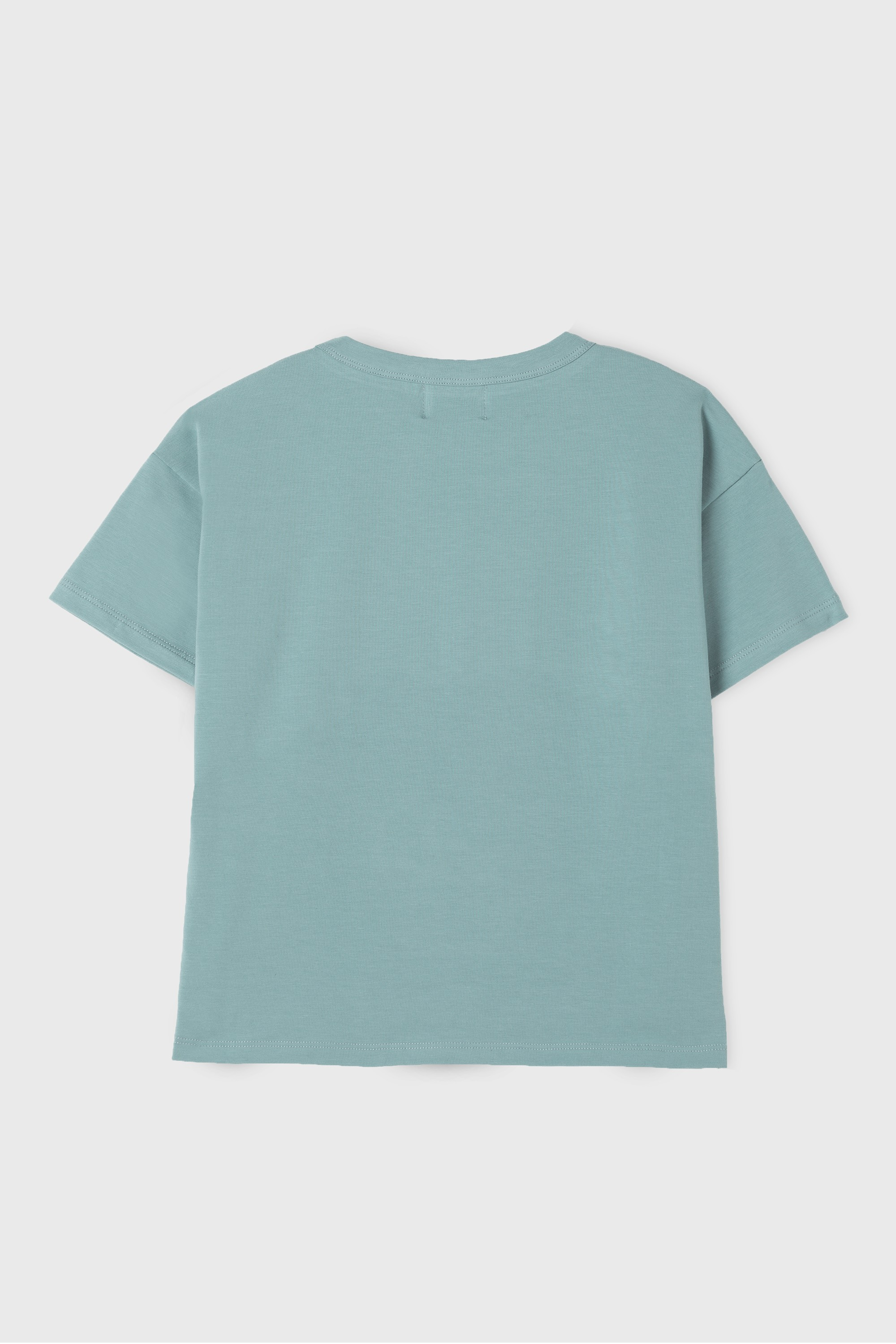GREEN COTTON JERSEY  T-SHIRT
