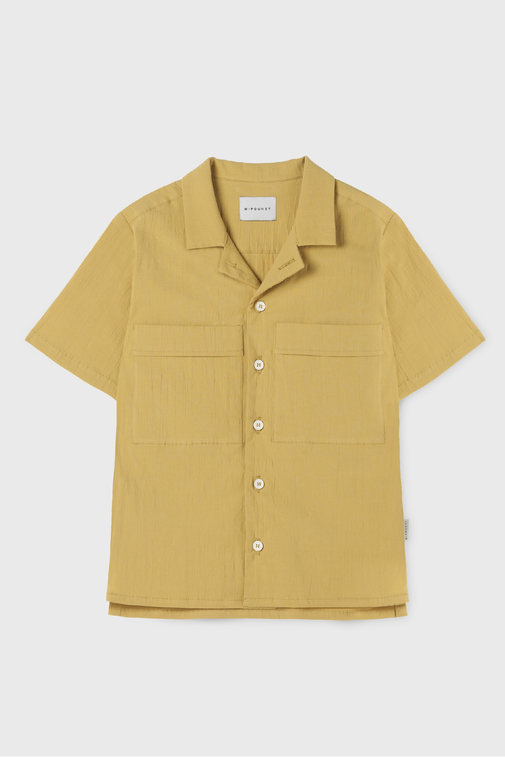 YELLOW VINTAGE POPELIN FRISÉE SHIRT