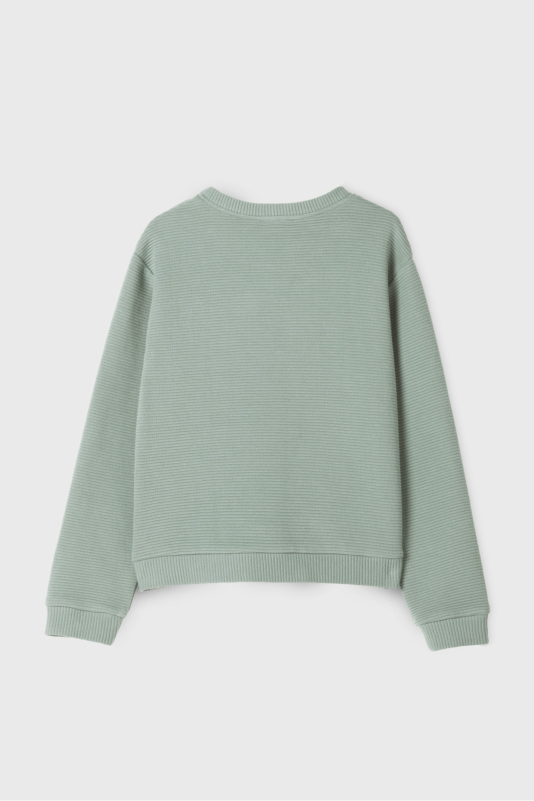 GREEN POCKET DETAIL SWEATSHIRT
