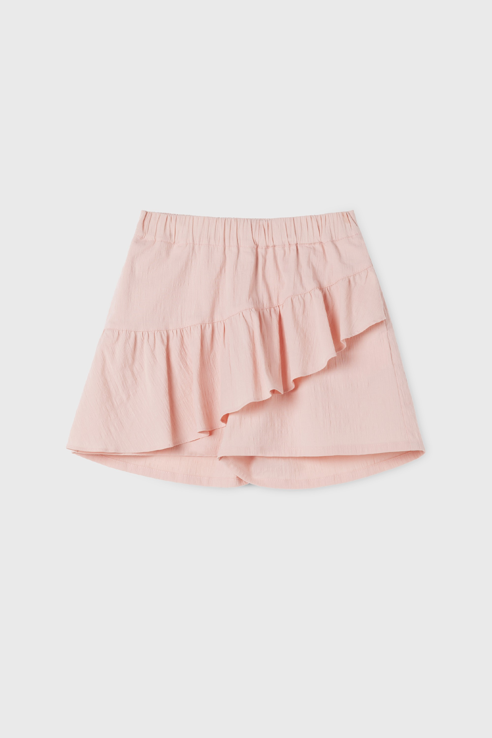 PINK COTTON RUFFLE SKIRT PANT