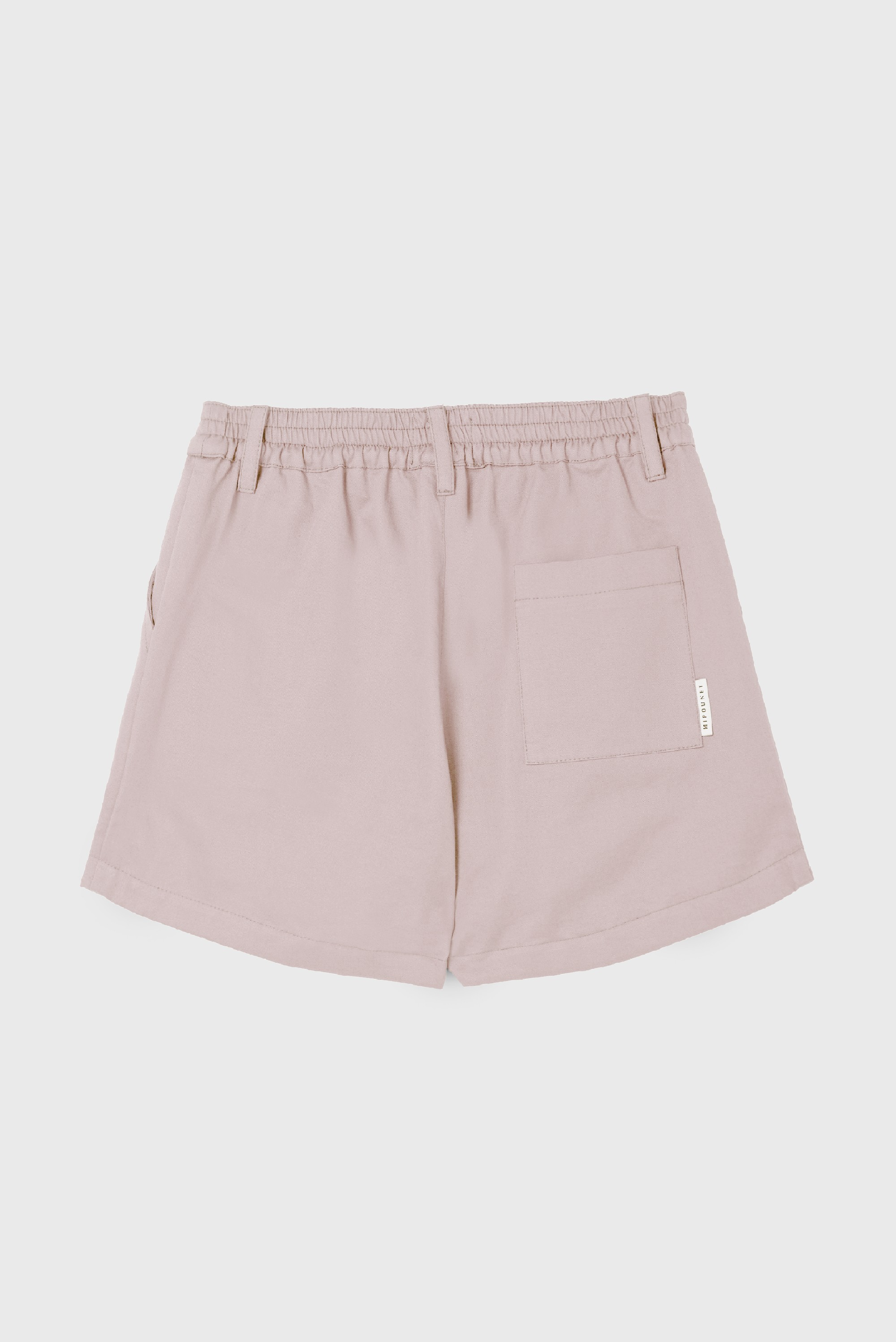 PINK COTTON GABARDINE PLEATED SHORT