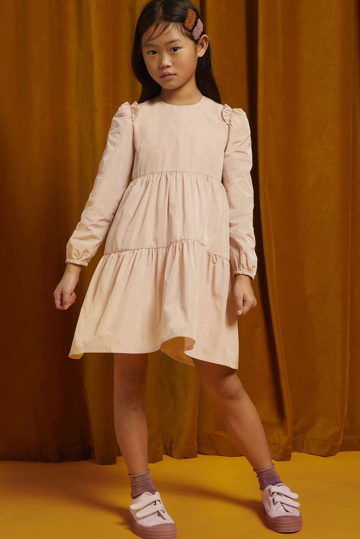 TAFFETA PLEATED DRESS