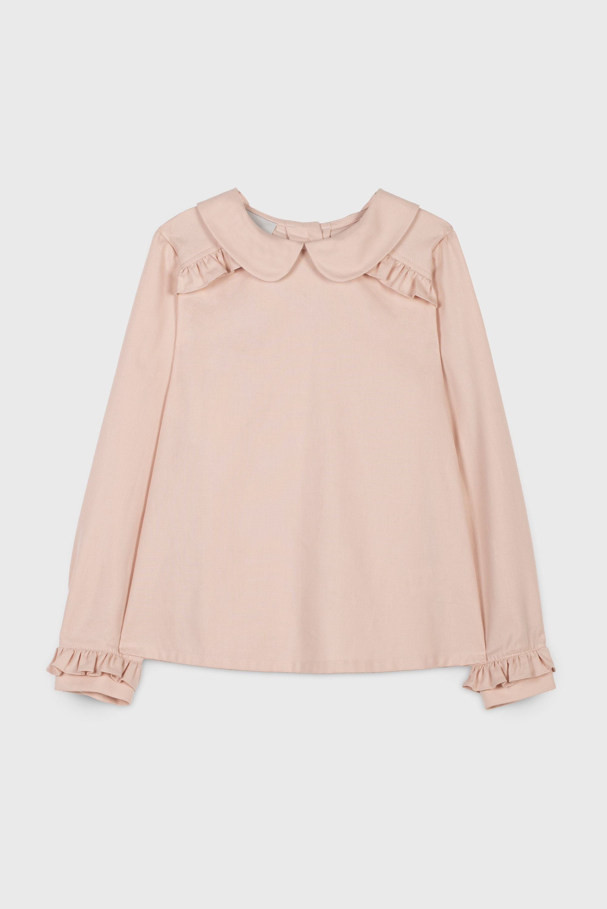 COTTON VIYELLA RUFFLE  BLOUSE