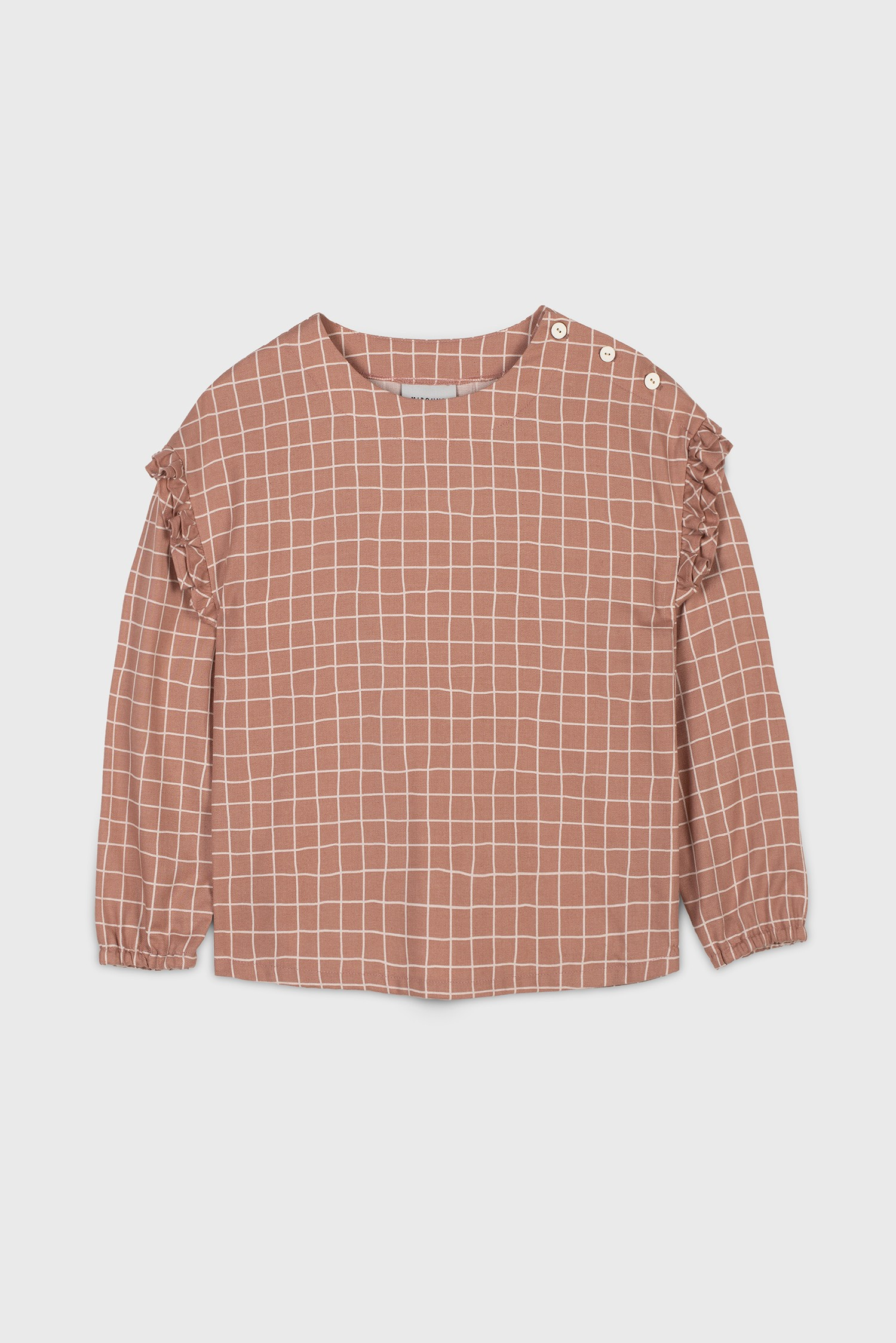 COTTON VIYELLA CHECK BLOUSE