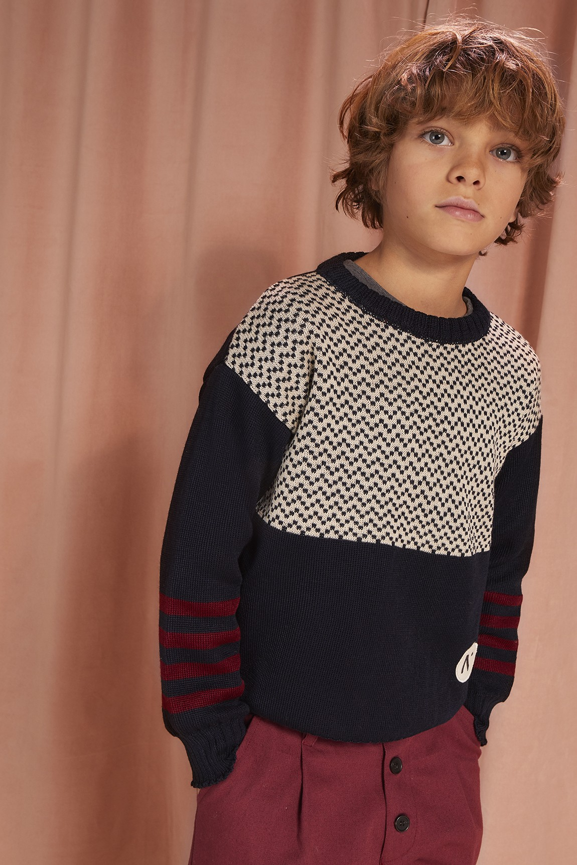 KNIT JUMPER  WITH  STRIPES