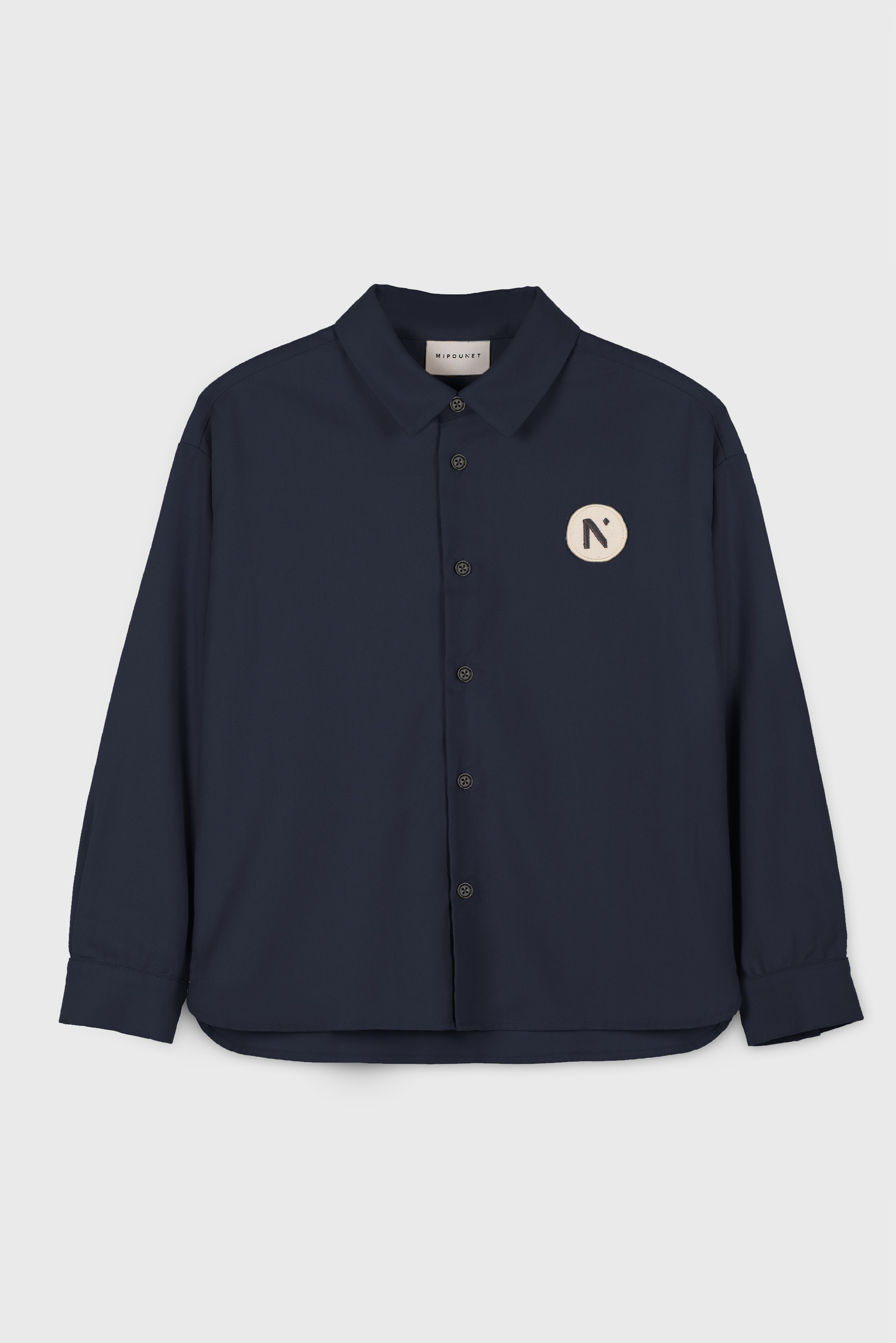 DARK BLUE COTTON VIYELLA SHIRT