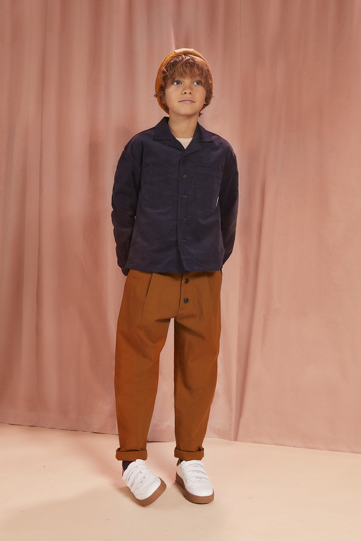 BROWN COTTON CANVAS PANT