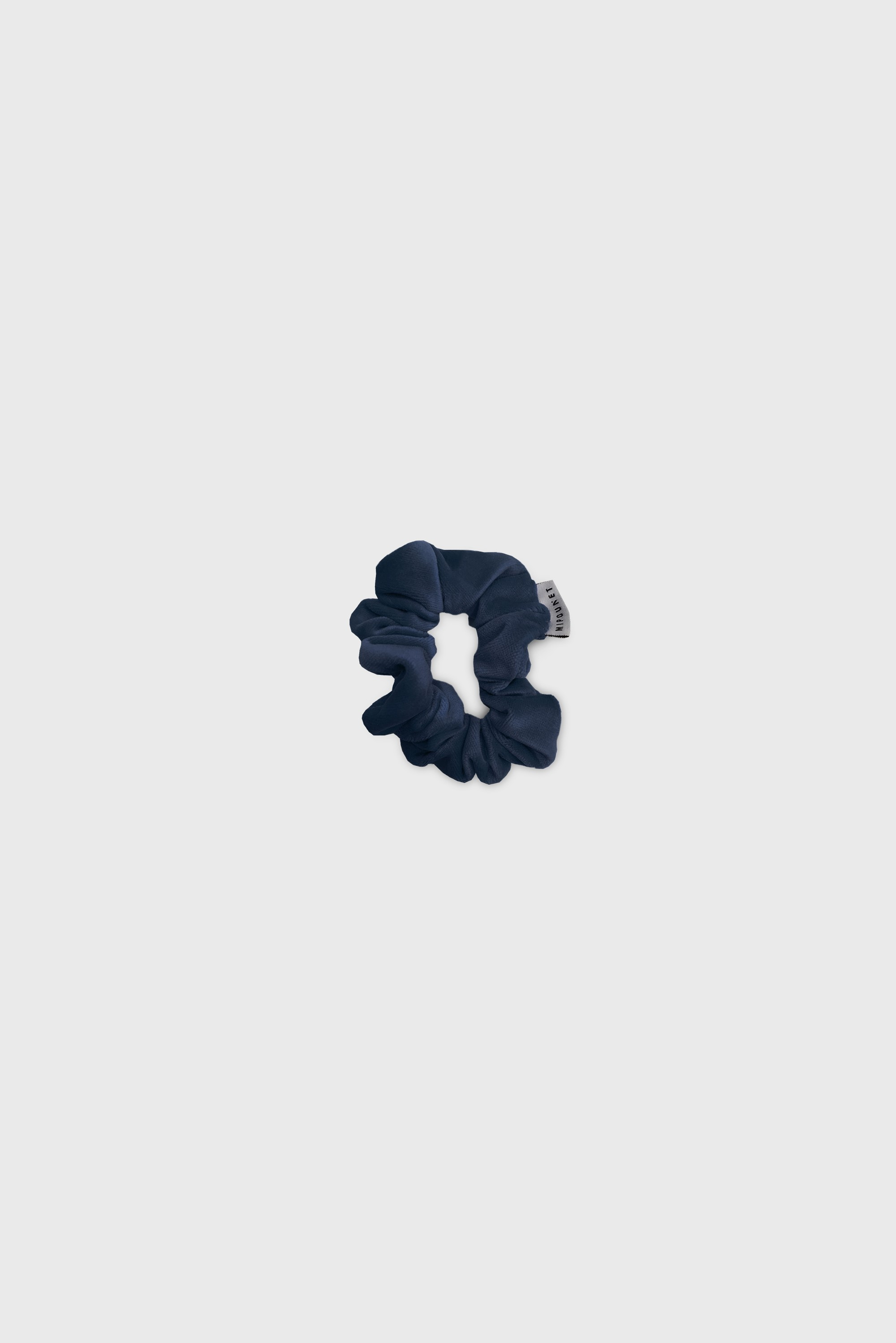 DARK BLUE VELVET HAIR TIE
