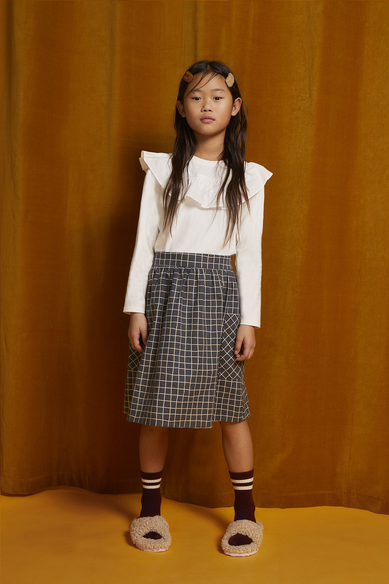 COTTON VIYELLA CHECK SKIRT